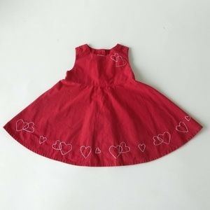 Girls Gymboree  Embroidered Red Dress